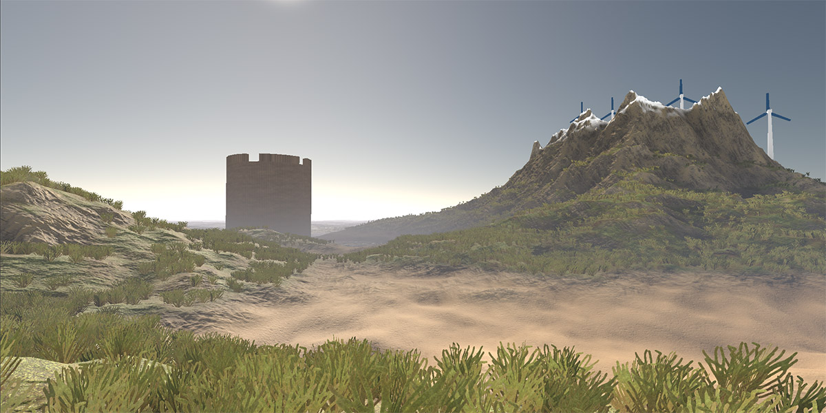 A screenshot from the Gatling game engine